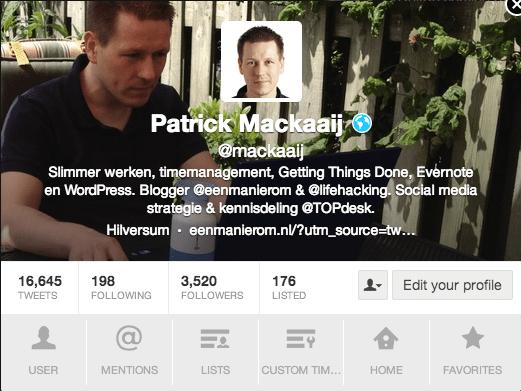 TweetDeck - Profiel