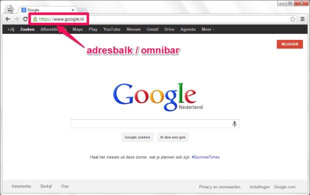 Google Chrome - adresbalk - omnibar
