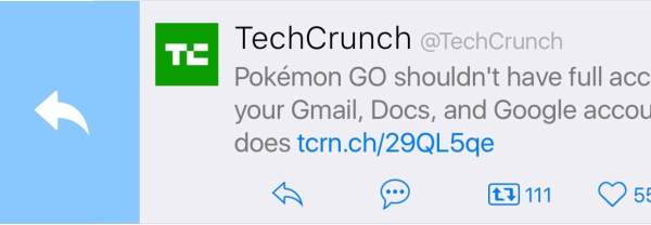 Twitterrific swipe-reply