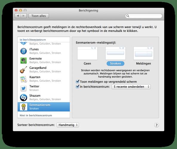 Safari Push Notification - Berichtenvoorkeuren