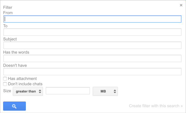 Gmail - Search options