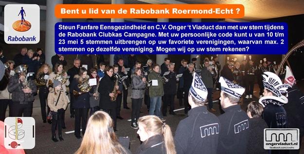 600 Rabobank Clubkas Campagne CVOHV Eensgezindheid Stemmen
