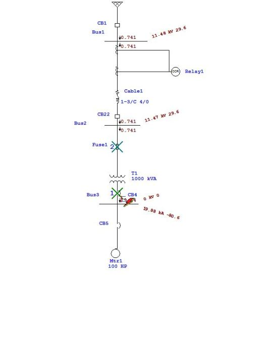 3 phase fault on bus-3