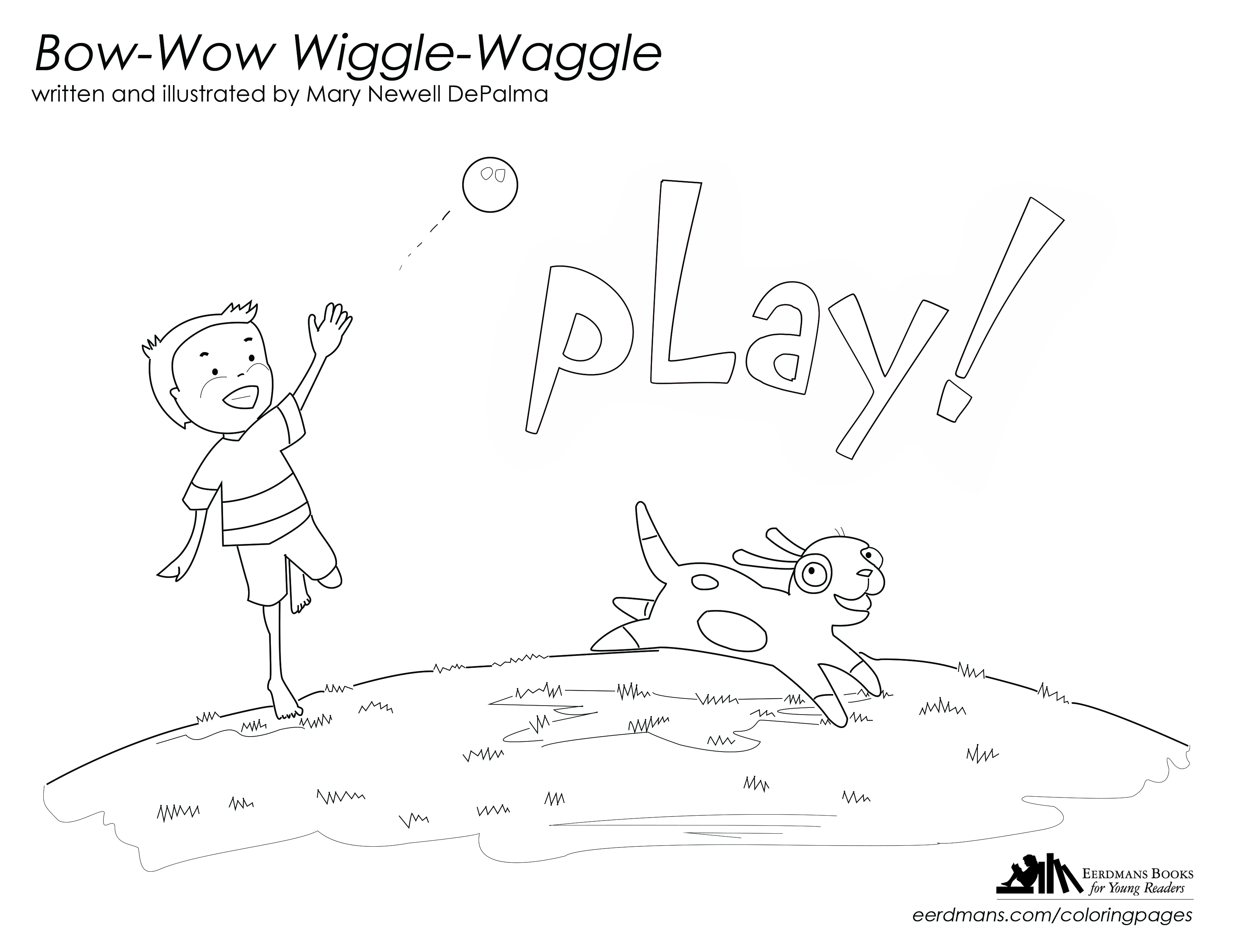 Bow-Wow Wiggle-Waggle coloring page