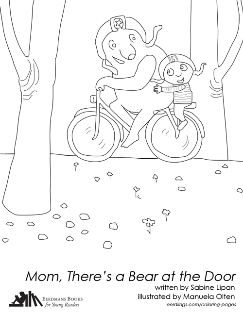 Mom, There's a Bear at the Door coloring page