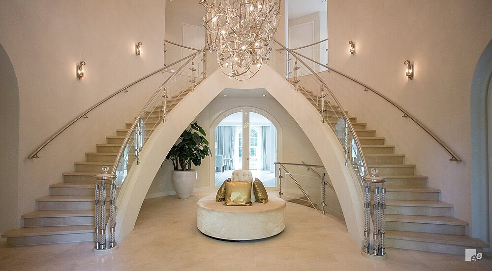 Curved Staircase Helical Stairs By Eestairs | Round Staircase House Plans | Beautiful | Small House | Exterior | Dimension | Stair Outside