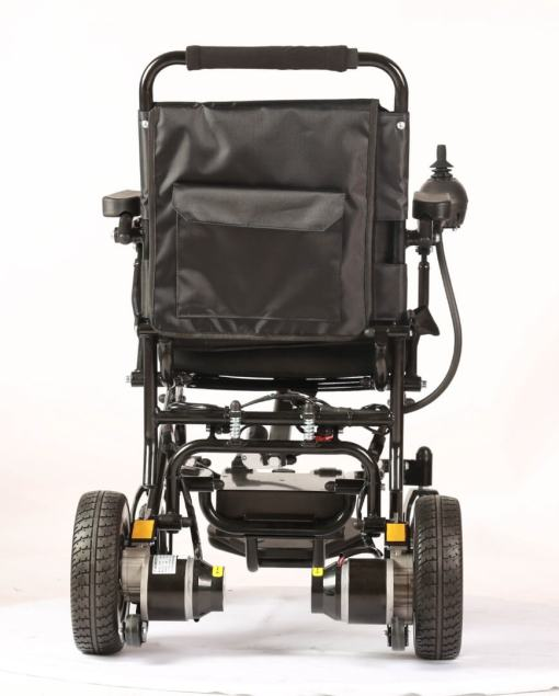 EeZeeGo-LW1 Folding Electric Wheelchair from behind