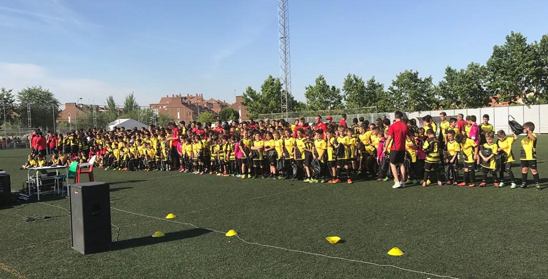 Representación de nuestros equipos en el acto de clausura 2016-17