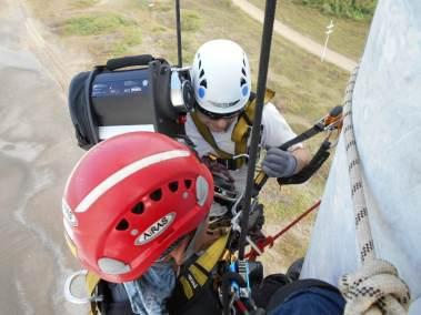Bangui-EFC-Robert- Jay-AiRAS- Checking leading windblade leading edge