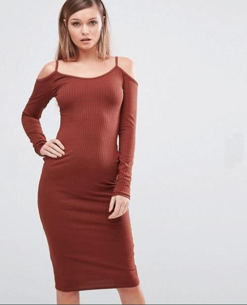 vestido-marron-chocolate-asos