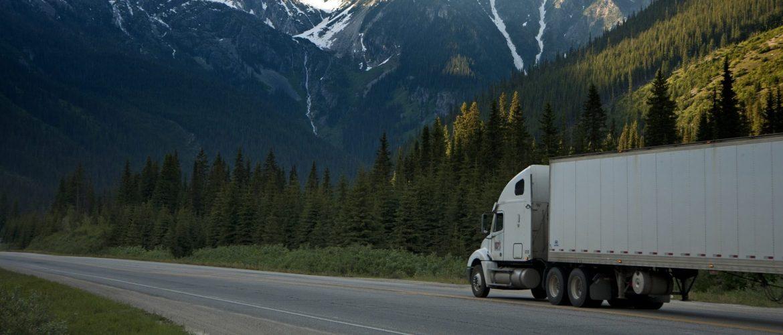 truck in transit