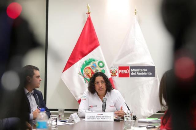 Ministra de Ambiente de Perú Fabiola Muñoz