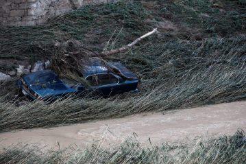 Graves daños en Tafalla, Olite y Pueyo por la intensas lluvias registradas desde ayer