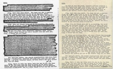 Redacted and unredacted letters