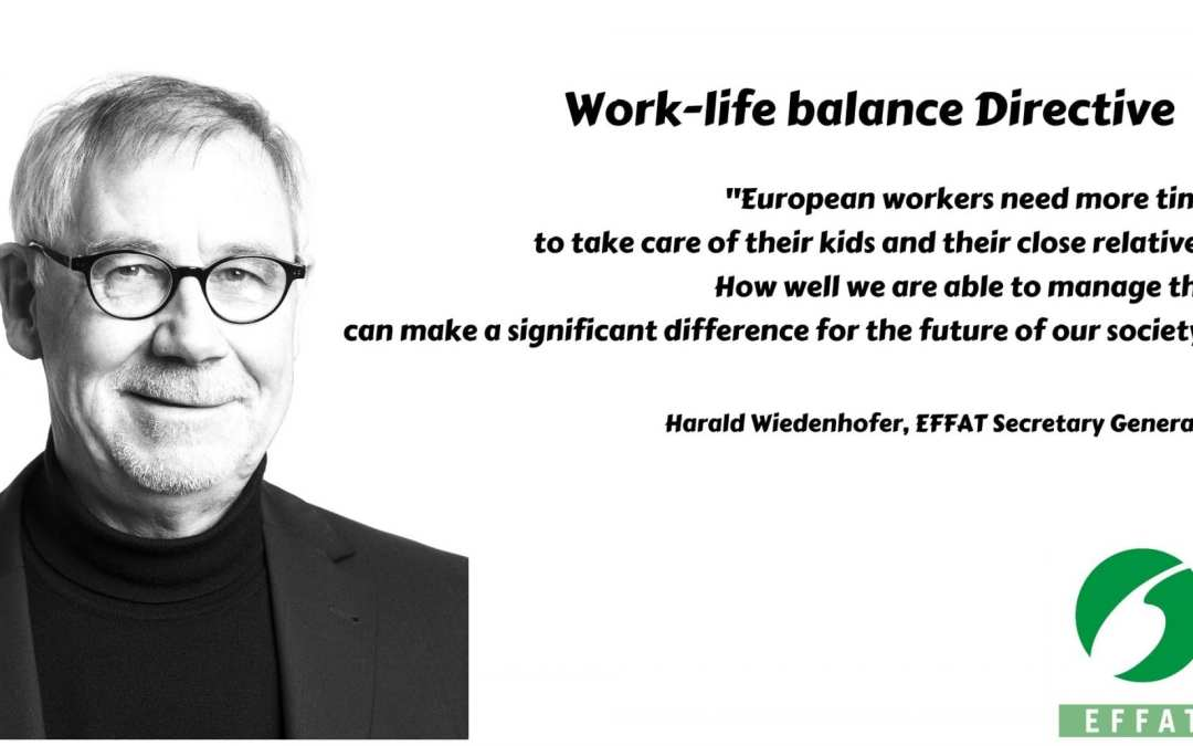 Work-life balance Directive: EFFAT considers positively the provisional agreement reached in Trialogue