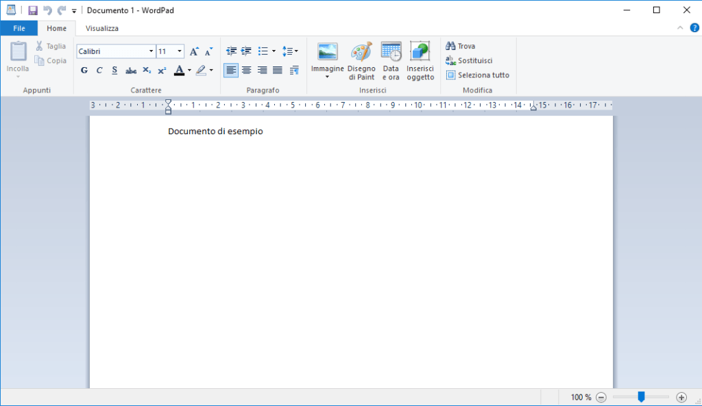 Windows 10 - Documento esempio