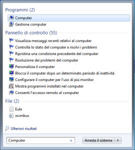 Windows 7 - Ricerca Computer
