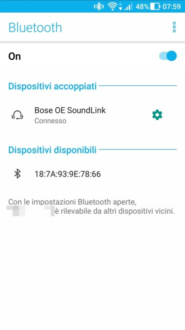 Android - Bluetooth Cuffie Connesse