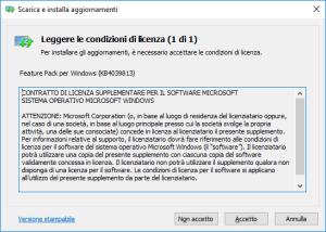 Windows 10 N - Media Feature Pack - Condizioni di licenza