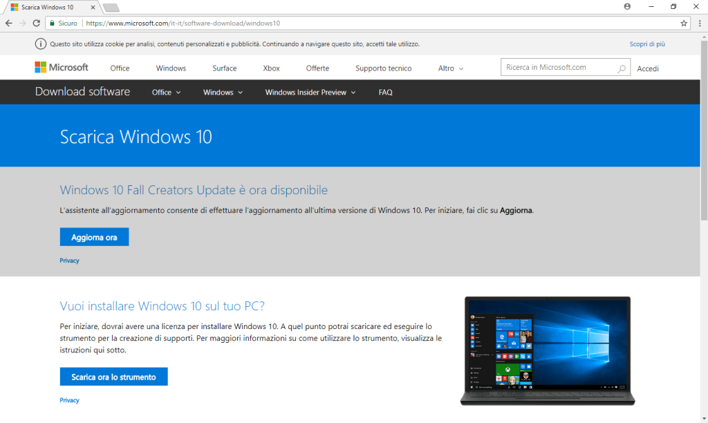 Windows 10 - Download Media Creation Tool
