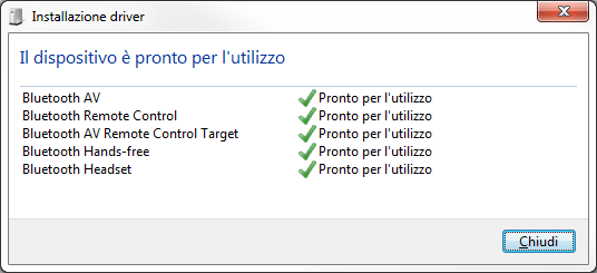 Windows 7 - Bluetooth - Installazione Driver