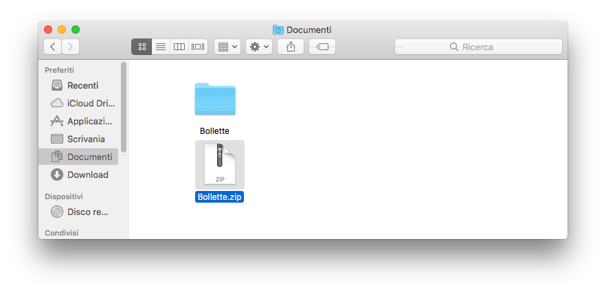 Mac OS - Cartella Compressa