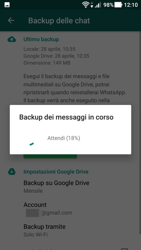 WhatsApp - Backup In Corso 01