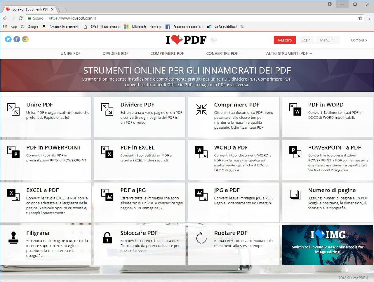 ILovePDF - Homepage