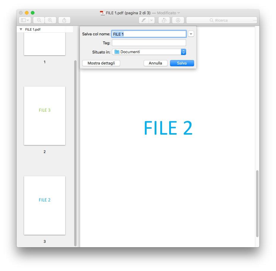 macOS - Apple - Anteprima - Esporta PDF