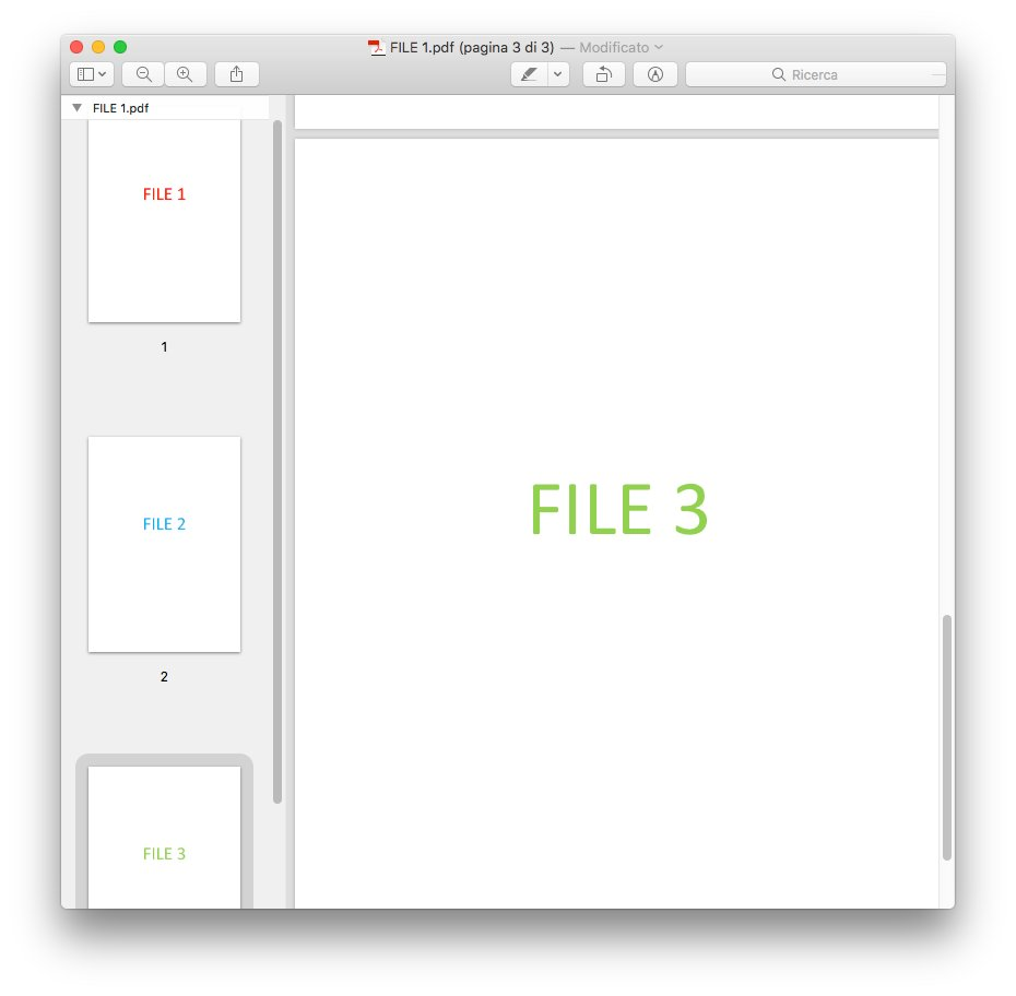 macOS - Apple - Anteprima con file PDF