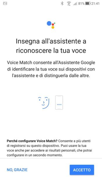 Google Home - Insegna all'assistente a riconoscere la tua voce