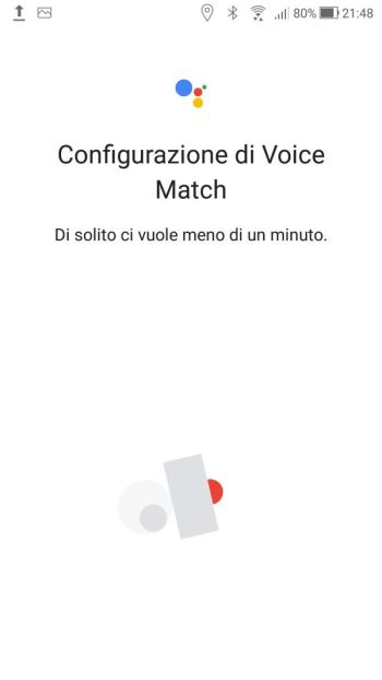 Google Home - Voice Match - Configurazione