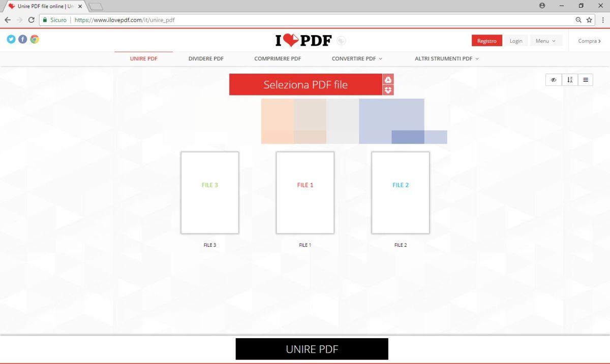 ILovePdf - Unione - File PDF Ordinati
