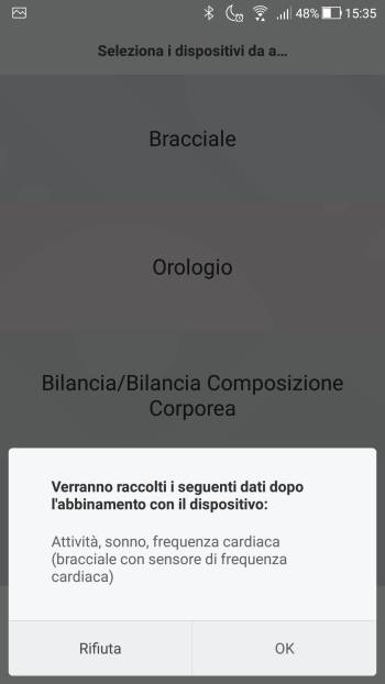 Xiaomi Mi Fit - Dati raccolti bracciale