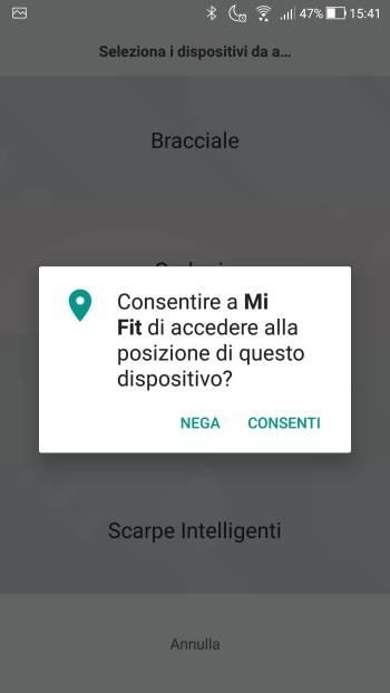Xiaomi Mi Fit - Servizi localizzazione 02