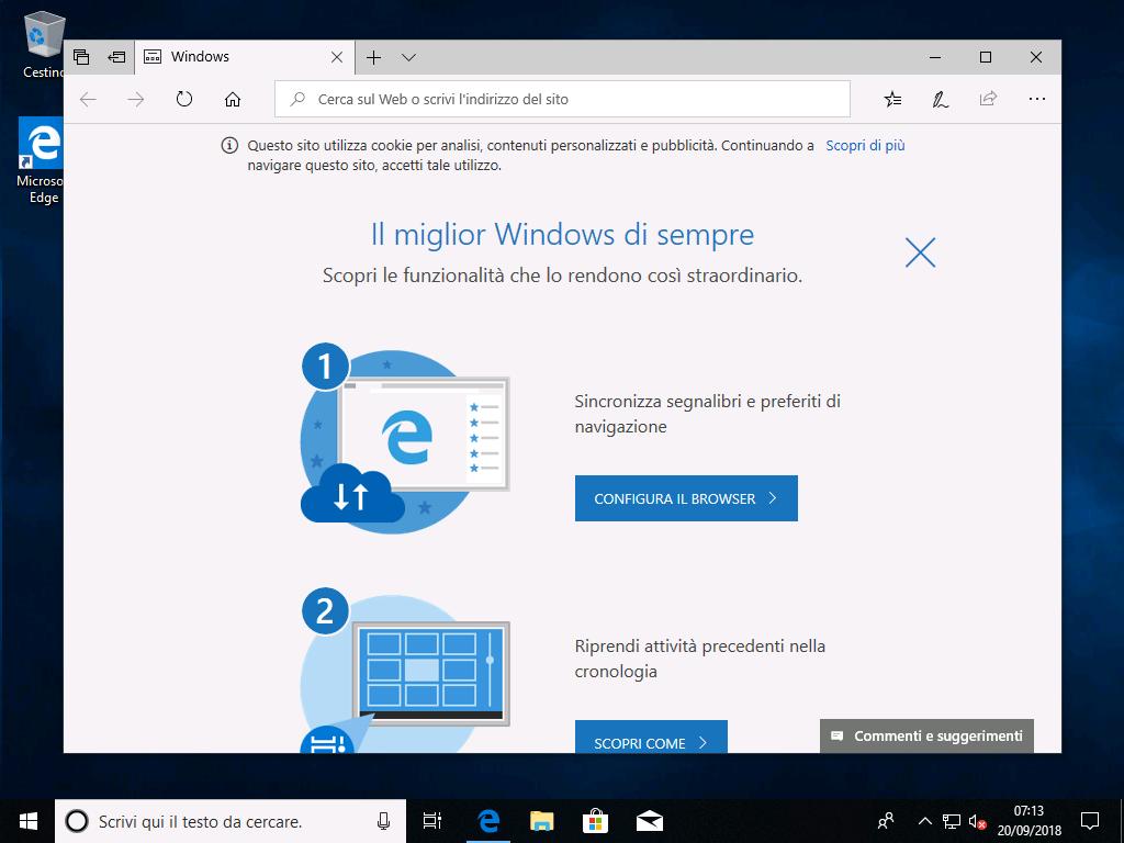 Windows 10 v1803- Ripristino PC - Rimuovi tutto - Finito