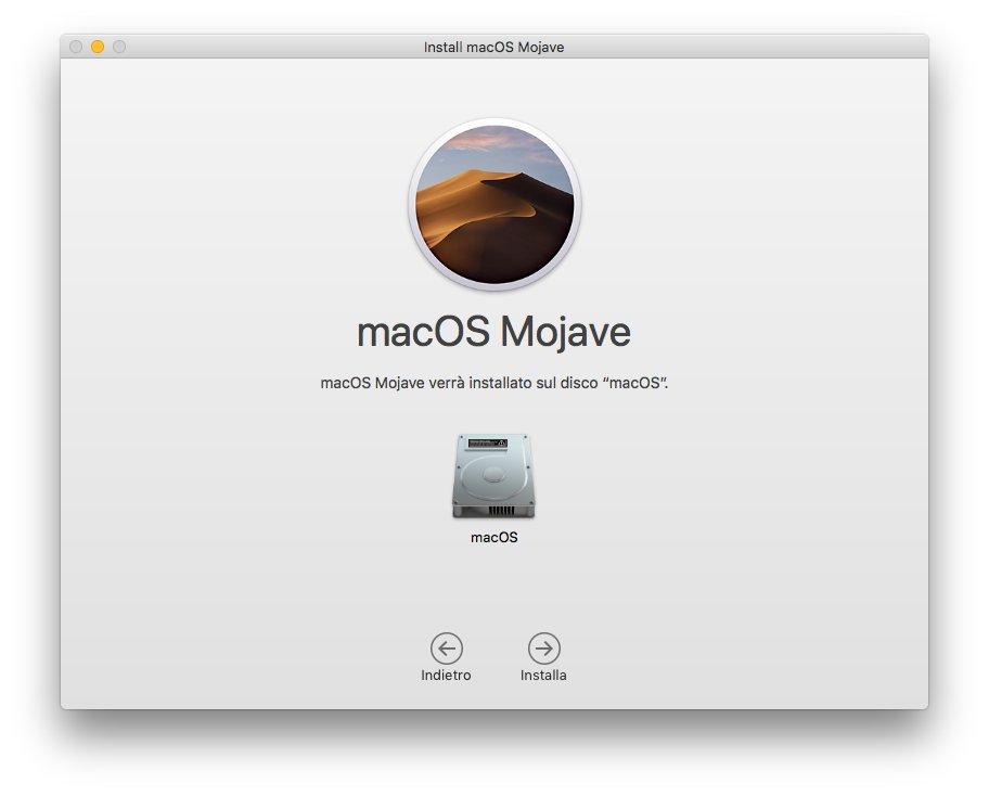 macOS 1013 - Installa Mojave 04 - Disco