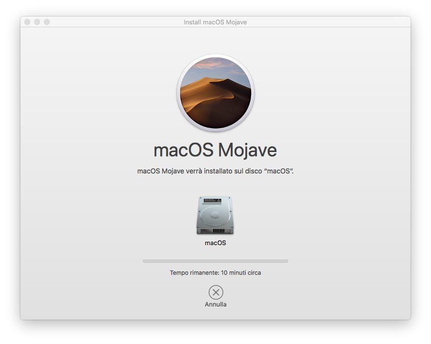 macOS 1013 - Installa Mojave 06 - Riavvio