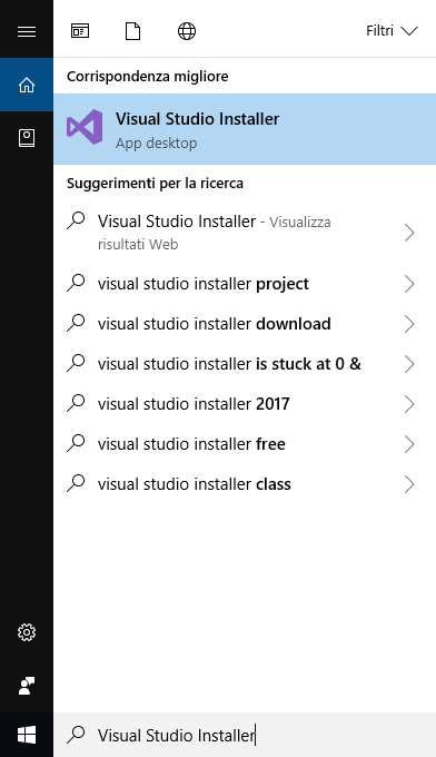 Microsoft Visual Studio 2017 - Visual Studio Installer