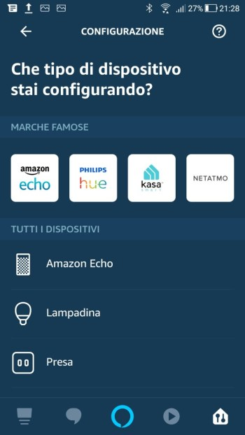 Amazon Alexa - Aggiungi dispositivo