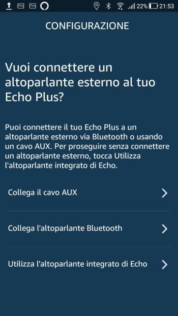 Amazon Alexa - Configurazione Altoparlante esterno