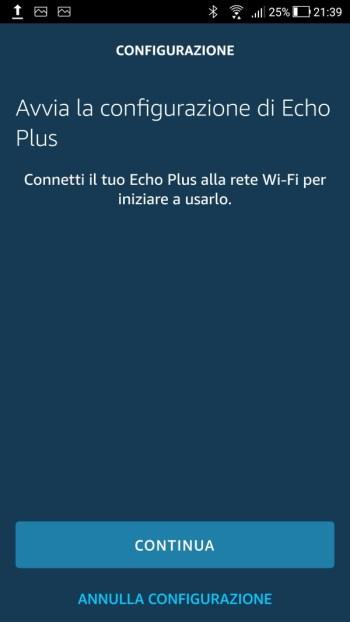 Amazon Alexa - Avvia configurazione Echo Plus