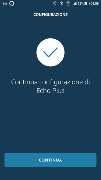 Amazon Echo - Configurazione Wi-Fi - Continua configurazione di Echo Plus