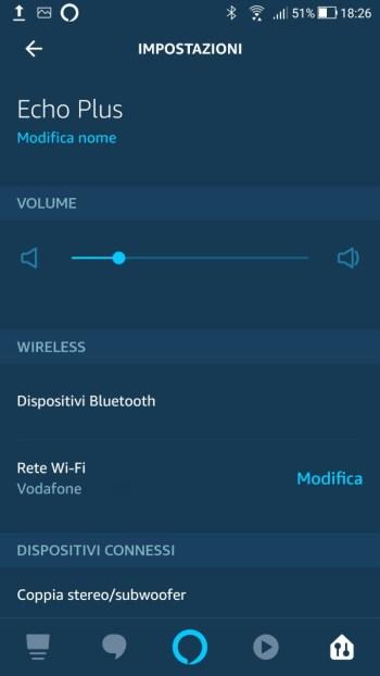 Amazon Alexa - Echo Plus - Impostazioni 01