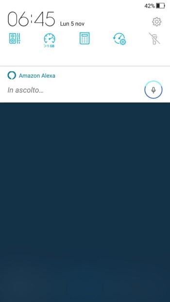 Amazon Alexa - Menù a tendina