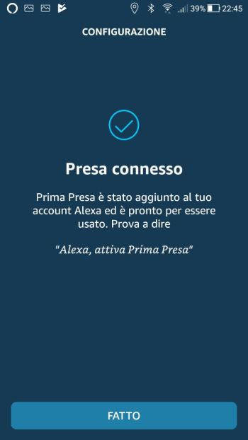 Amazon Alexa - App - Presa connesso
