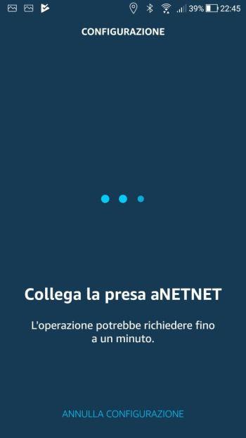 Amazon Alexa - App - Collegamento presa rete Wi-Fi