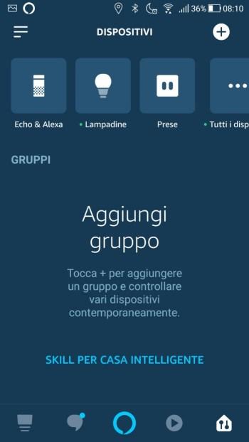 Amazon Alexa - Prima luce aggiunta