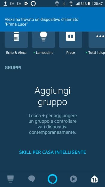 Amazon Alexa - Prima luce trovata