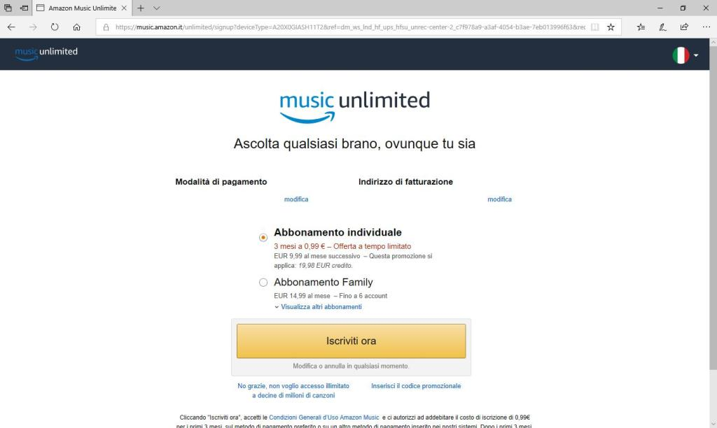 Amazon Music Unlimited - Iscriviti Ora